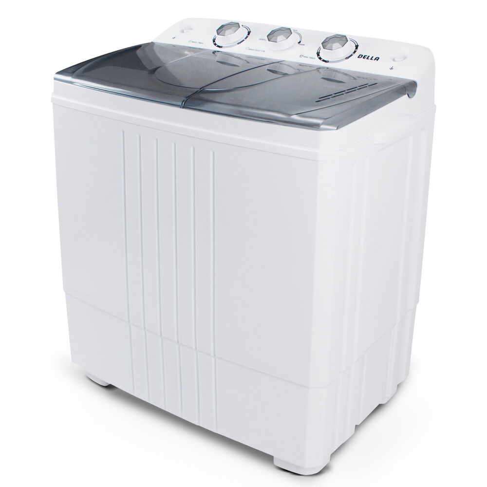 portable mini washing machine compact twin tub 11lb washer spin dryer white ebay. Black Bedroom Furniture Sets. Home Design Ideas
