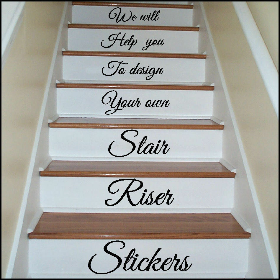 Design Your Own Stair Riser Stickers Transfer You Choose