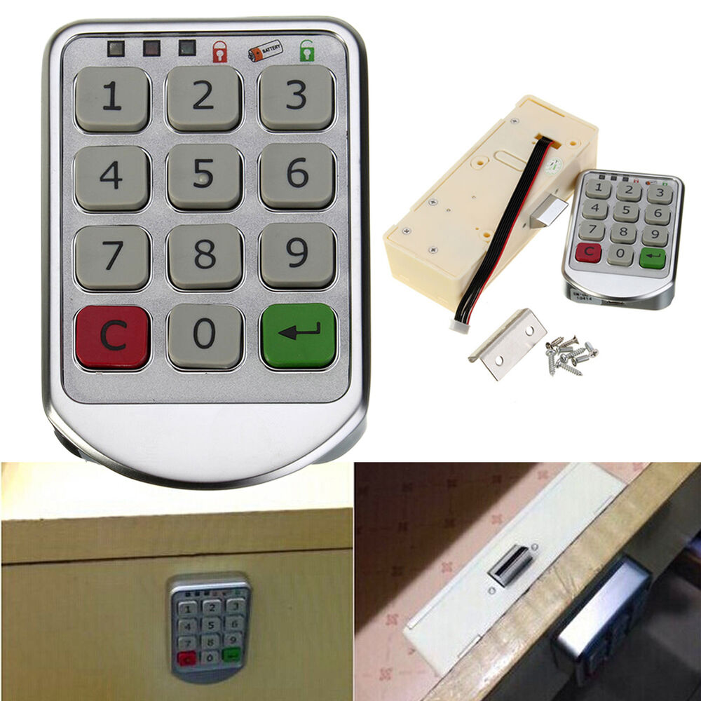 digital electronic password keypad number cabinet door. Black Bedroom Furniture Sets. Home Design Ideas
