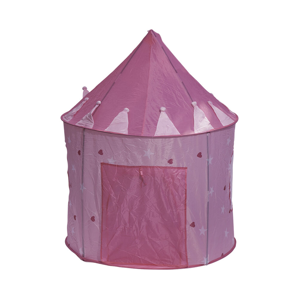 pink princess castle play tent play house for kids children outdoor indoor new ebay. Black Bedroom Furniture Sets. Home Design Ideas