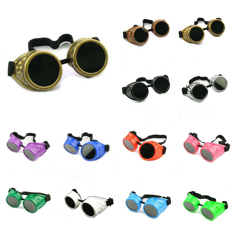 CYBER GOGGLES STEAMPUNK WELDING GOTH COSPLAY VINTAGE ...