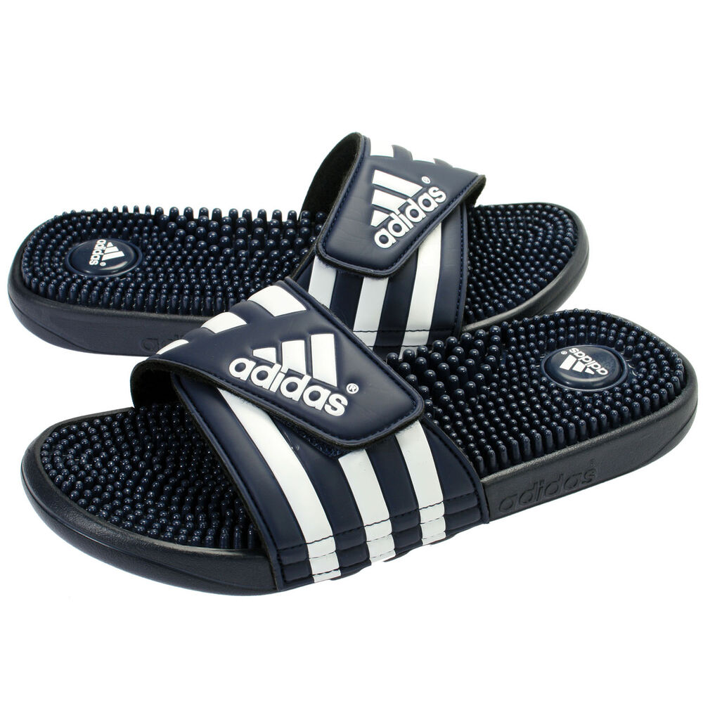 Adidas Adissage Mens 078261 Navy Blue White Logo Massage