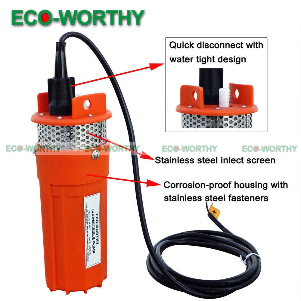 24v Submersible Deep Well Solar Water Pump Alternative