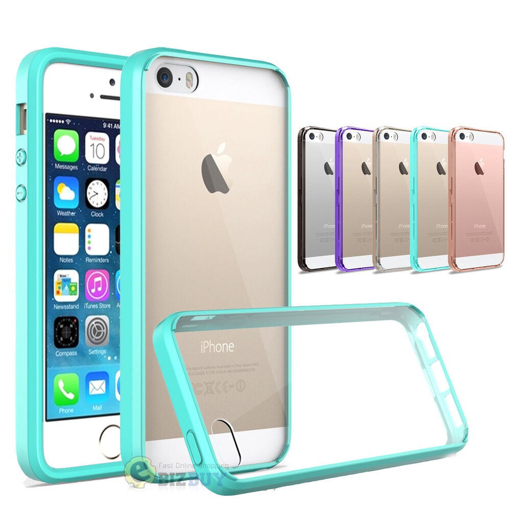 clear case for iphone 5s for iphone 5s se 5 hybrid slim clear back tpu 2643