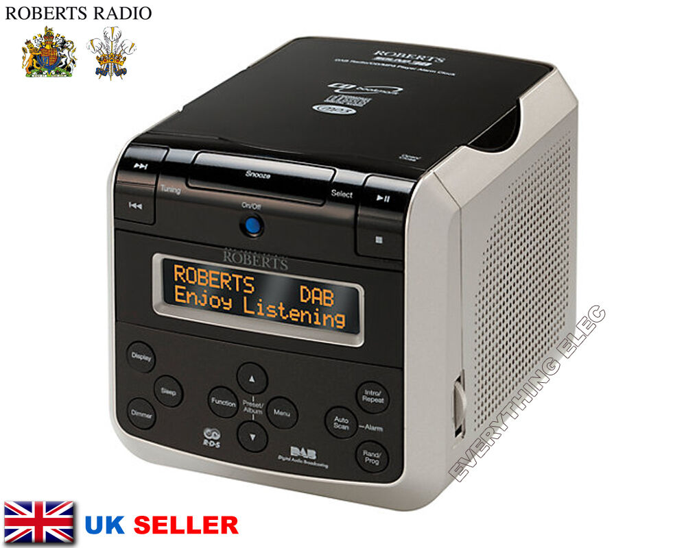 roberts radio sound 38 dab with cd player alarm clock authorised stockists 5038301302030 ebay. Black Bedroom Furniture Sets. Home Design Ideas