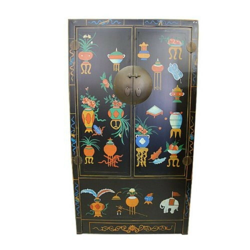 Chinese antique reproduction cabinet armoire tx145 ebay for Oriental reproduction furniture