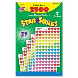 ''Trend Sticker Assortment Pack, Smiling Star,  Assorted, 2500 per Pack''