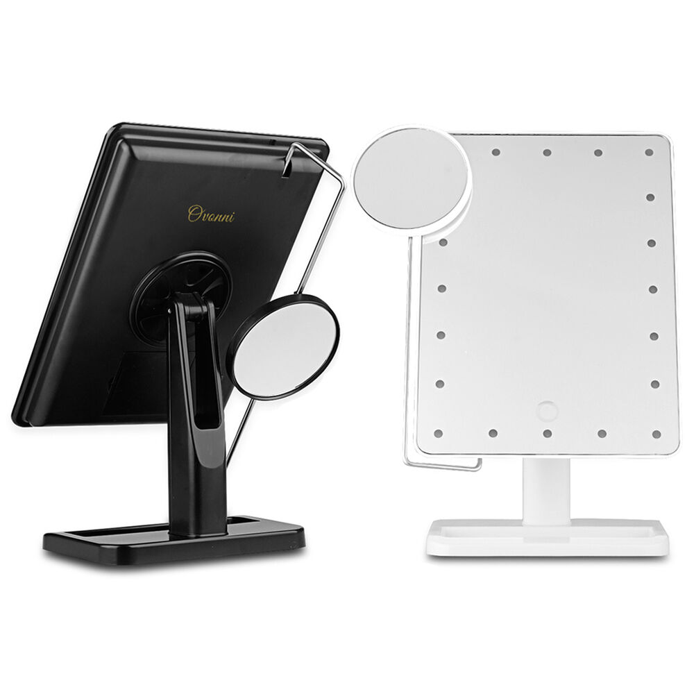 Vanity Mirror With Lights Portable : 10X Magnification Makeup Mirror Portable Vanity Lighted Ajustable 20 LED Lights eBay