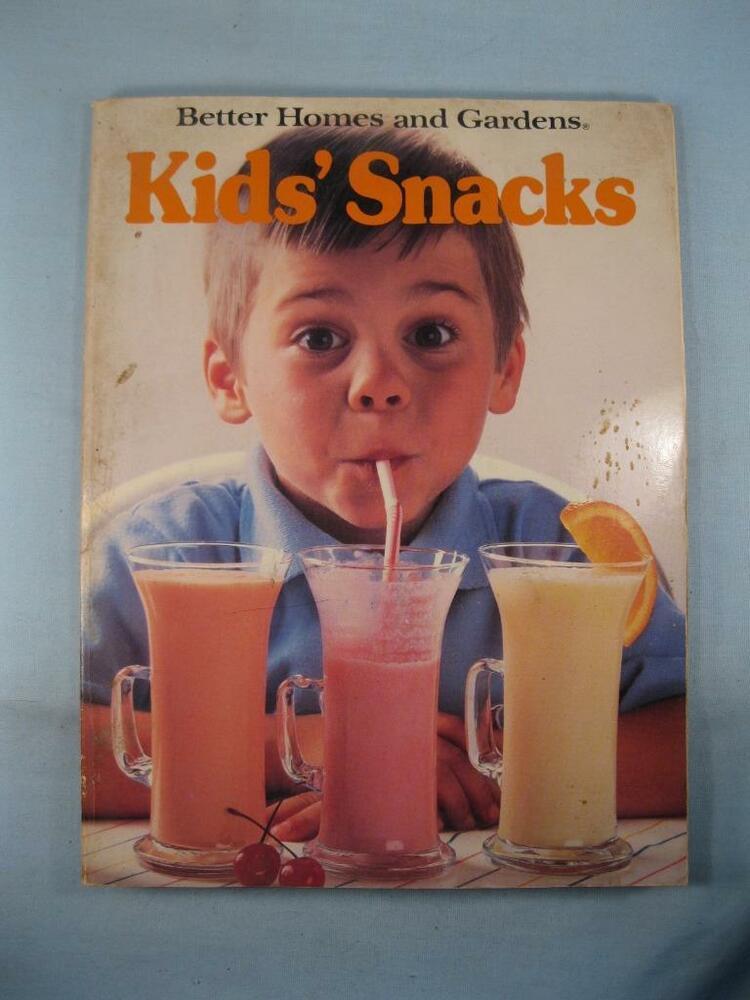 Better homes and gardens kids snacks vintage cookbook book - Vintage better homes and gardens cookbook ...
