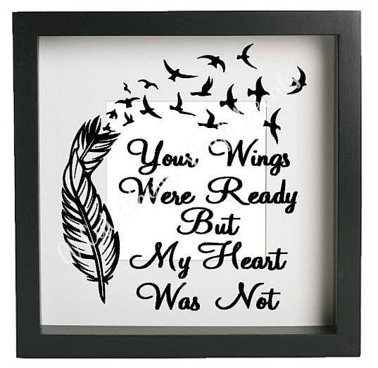 Your wings were ready vinyl decal sticker fits ikea frame for Your wings were ready but my heart was not tattoo