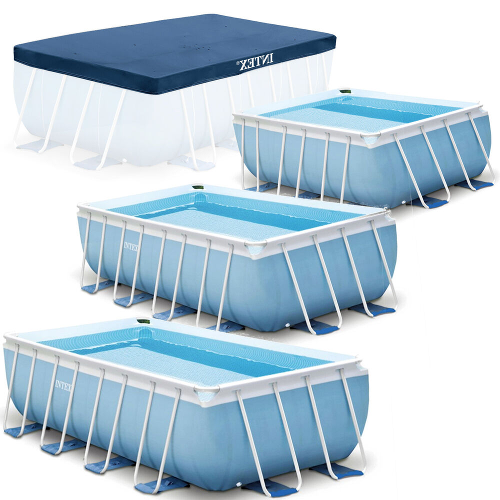 Intex prism frame swimming pool rechteck stahlwand 28314 28316 28318 ebay - Swimming pool stahlwand ...