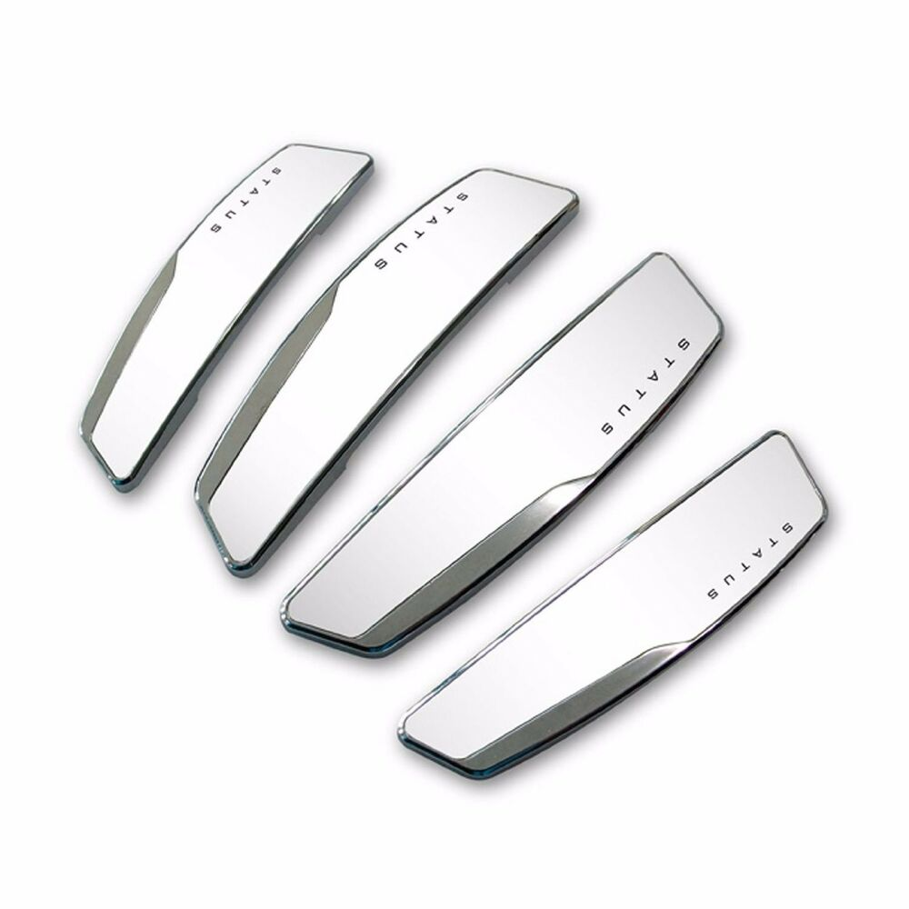 Status 4 pcs high glossy slim door edge guards bumper for Door edge trim