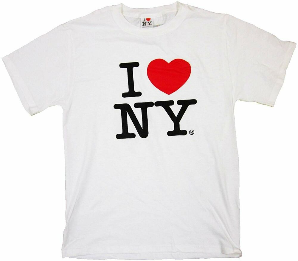 i love ny t shirt white ebay. Black Bedroom Furniture Sets. Home Design Ideas
