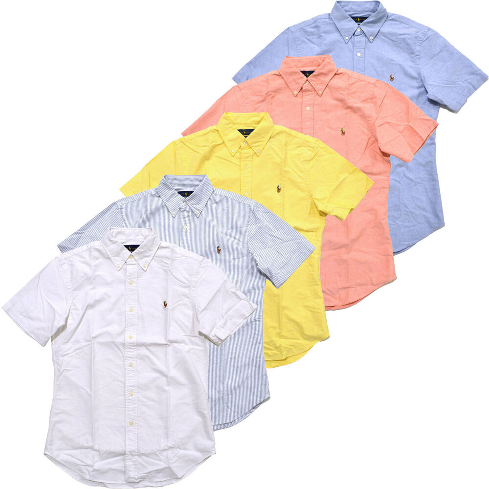 Polo Ralph Lauren Slim Fit Short Sleeve Button Down Oxford