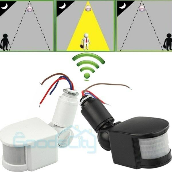 12M Outdoor Security PIR Infrared Motion Sensor Detector Switch 180 LED Ligh