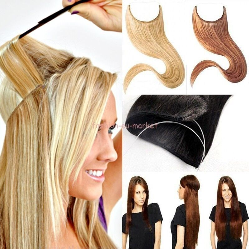 Real Thick Clip In Hair Extensions Wire Piece Straight