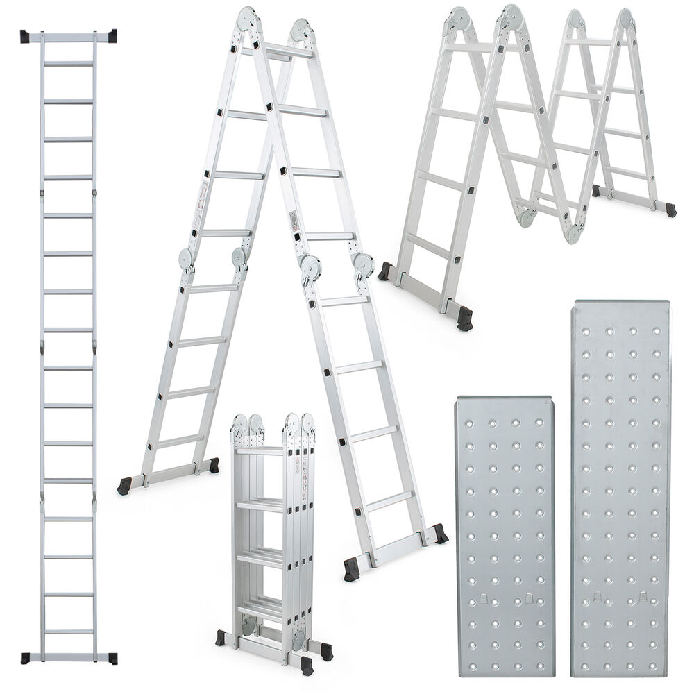 6ft Multi Purpose Step Ladders : Ft multi purpose aluminum folding step platform