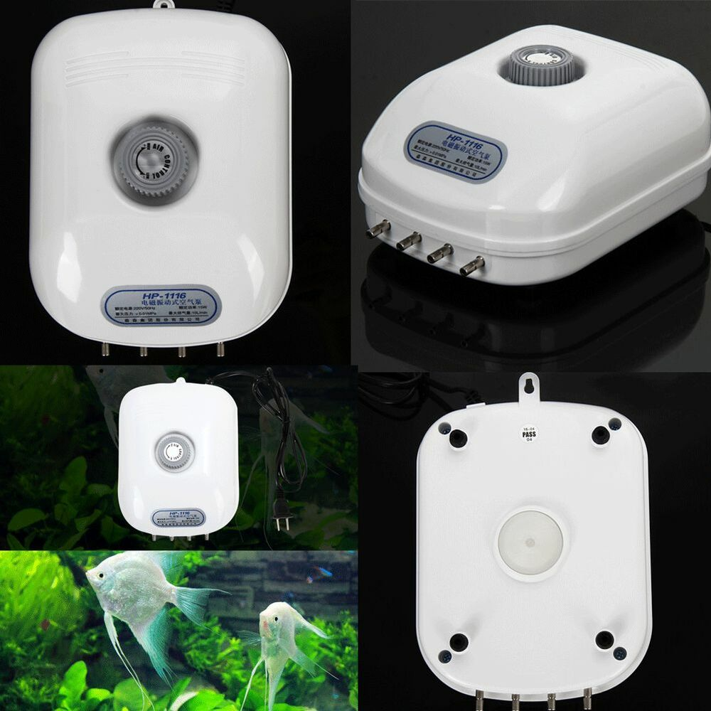 Oxygen aquarium fish tank 4 outlet 300 gallon adjustable for Air pump for fish tank