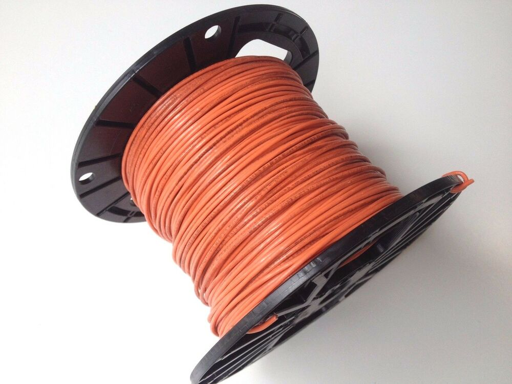 Flexible Cable Fixture : Foot awg gauge copper orange flexible mtw