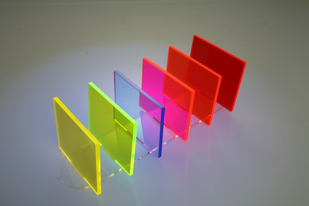 Fluorescent Colour 3mm Acrylic Plastic Perspex 100mm