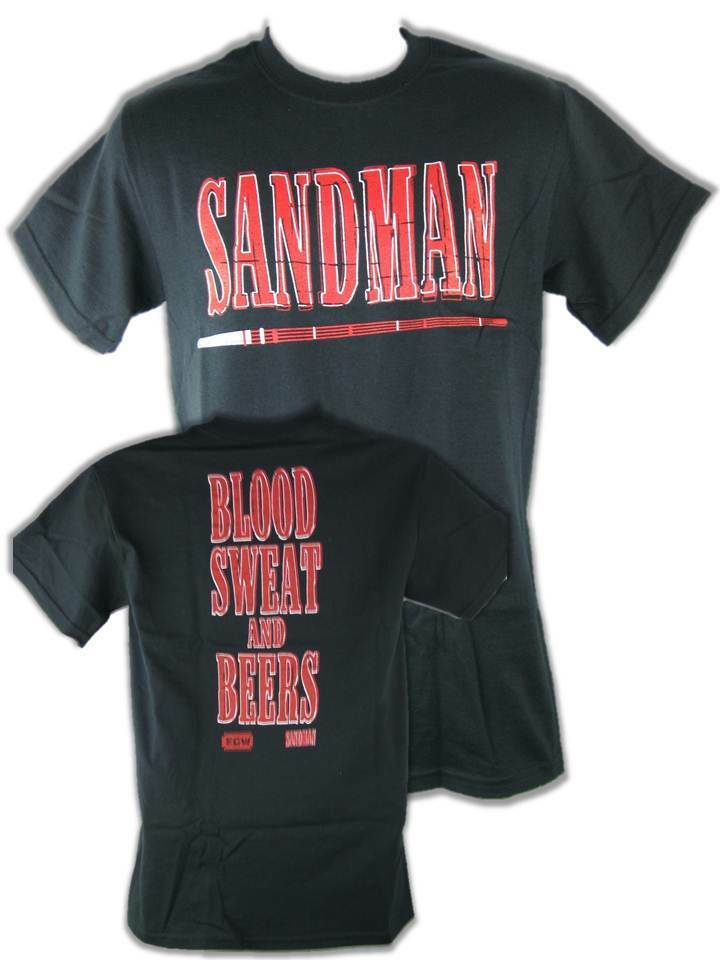 Sandman Blood Sweat Beers ECW Mens T-shirt | eBay