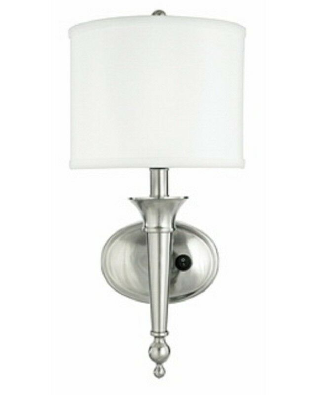 Shades Of Light Outlet: Brushed Nickel Plug In Flurescent Wall Sconce With Shade