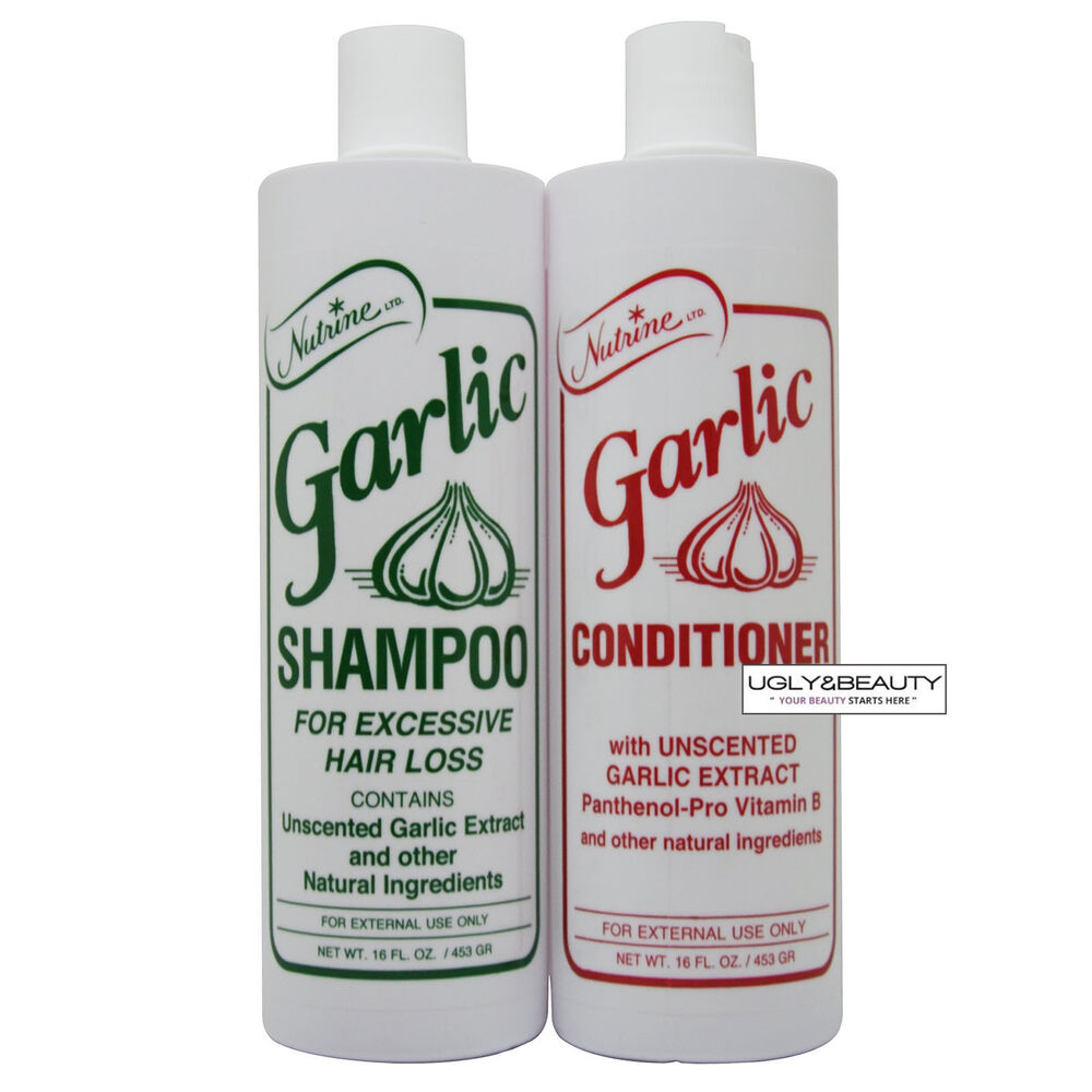 unscented hair styling products nutrine garlic shampoo amp conditioner unscented 16 fl oz 9503 | s l1000