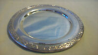 """WM. A. ROGERS SILVERPLATE SMALL SERVING TRAY 6"""" IN DIAMETER, MEADOWBROOK PATTERN"""