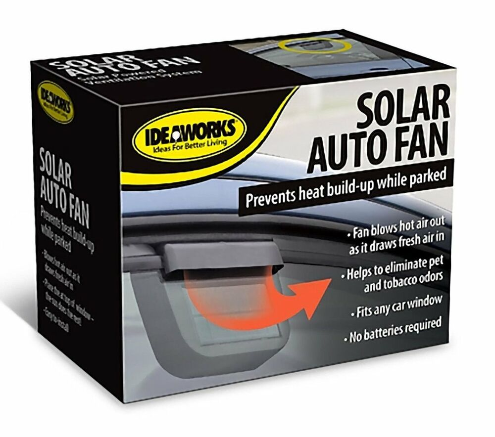 solar powered car window fan auto vent ventilator cooler sun power cooling ebay. Black Bedroom Furniture Sets. Home Design Ideas
