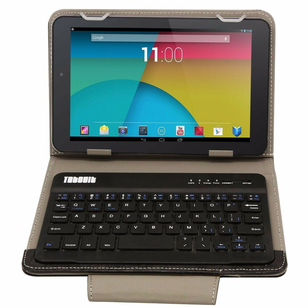 Bluetooth Keyboard Mapping Android: PU Leather Bluetooth Wireless Keyboard Case Cover With Stand For Android Tablet