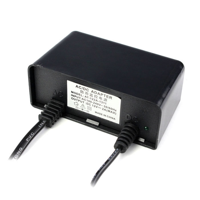 Waterproof outdoor 12v 2a ac dc power supply adapter for for Waterproof dc motor 12v
