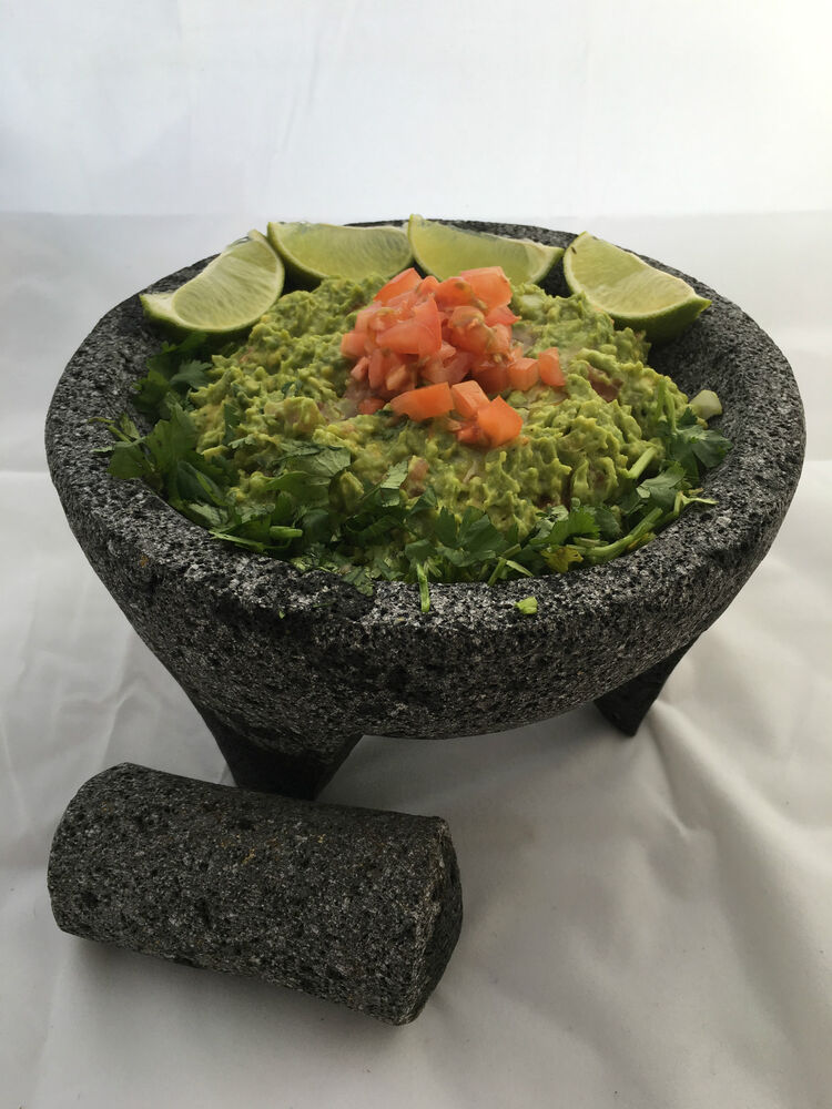 Authentic Mexican Molcajete Lava Rock Mortar And Pestle