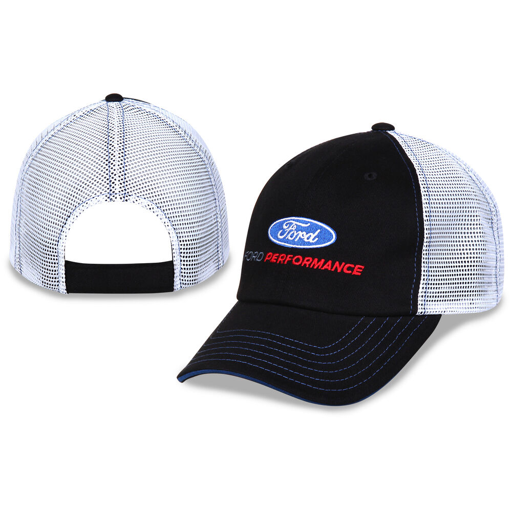 Ford Performance Cotton Polyester Black White Mesh Hat