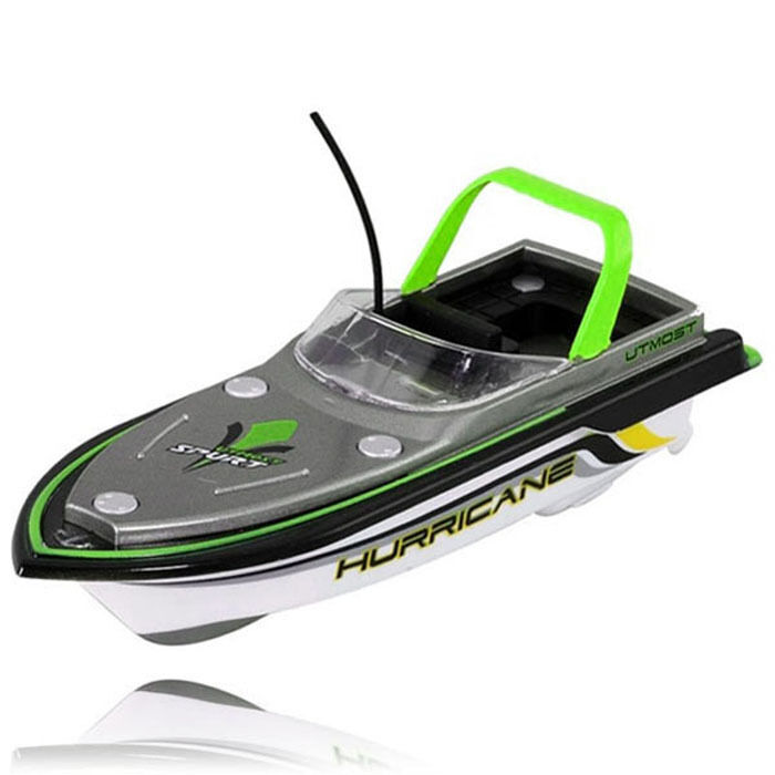 Green radio rc remote control super mini speed boat dual for Green boat and motor