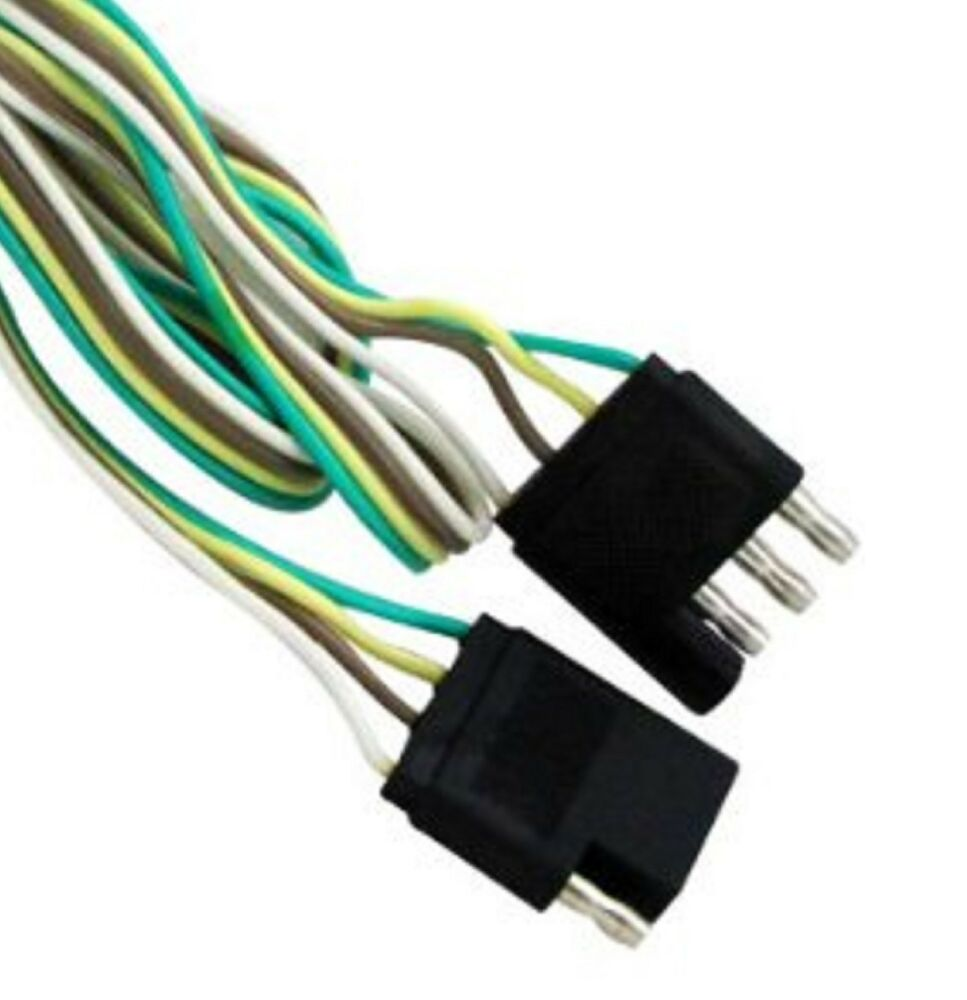 Trailer Wiring Extension Cord Smart Diagrams How To Wire Plug 4 Way 5 Ft Flat Light Proper Size
