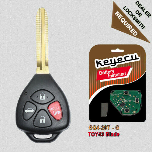 2003 2008 Toyota Corolla Keyless Entry Remote Toyota Logo Fcc Id Gq43vt14t Pn 89742 06010 as well 182199784275 furthermore 111554387514 also 271602855457 also 231948518098. on toyota keyless entry remote replacement