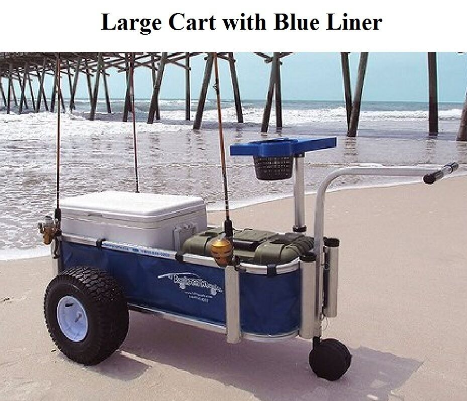 Large fishing cart boat beach surf pier all alluminum for Beach fishing carts