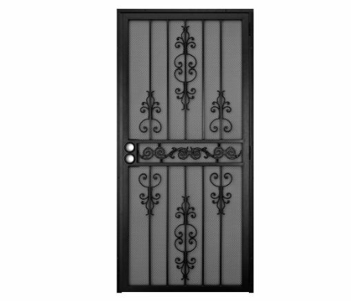 Durable Black Home Entry Heavy Duty Steel Safety Metal