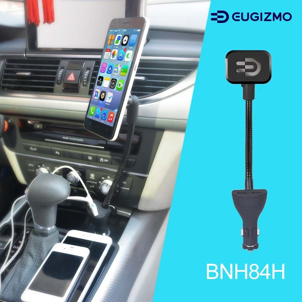 eugizmo car magnetic phone holder mount with dual usb. Black Bedroom Furniture Sets. Home Design Ideas