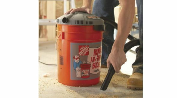 Bucket Head Wet Dry Vacuum Cleaner Portable 5 Gallon 1 75