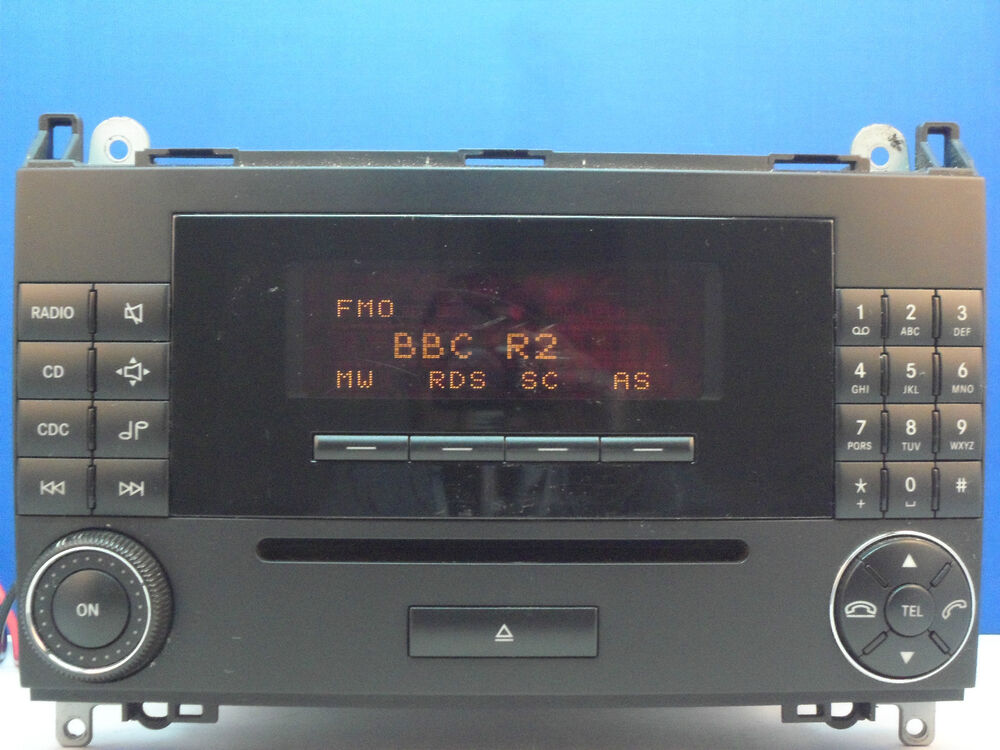 Mercedes benz mf2750 car radio cd player w169 w245 a class for Mercedes benz truck radio code