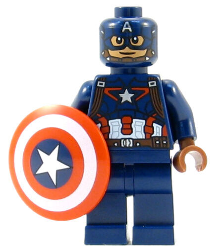 New lego captain america minifig 76051 76067 marvel figure minifigure civil war ebay - Lego capitaine america ...