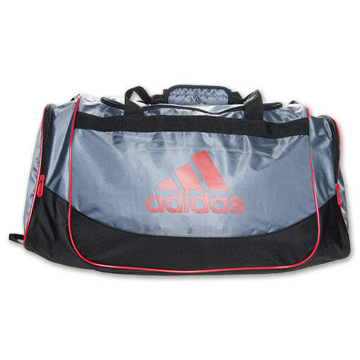 new adidas defender duffel medium gym bag lead scarlet. Black Bedroom Furniture Sets. Home Design Ideas