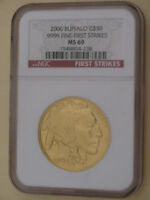 2006 NGC MS 69 $50 American Gold Buffalo 1 oz .9999 Fine First Strikes