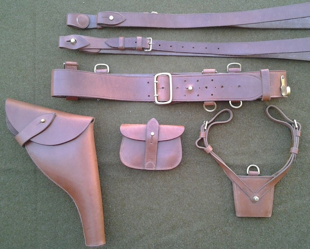 Complete British Sam Browne Belt And Webley Leather Holster Set Ebay 12 Volt Boat Wiring Diagram Http Wwwmopedarmycom Wiki Motobecane