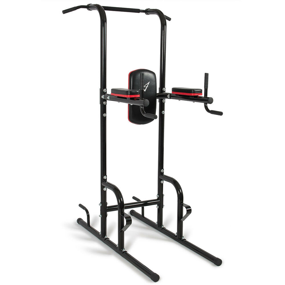 Weider Power Tower Home Gym: Heavy Duty Dip Station Power Tower Pull Push Chin Up Bar