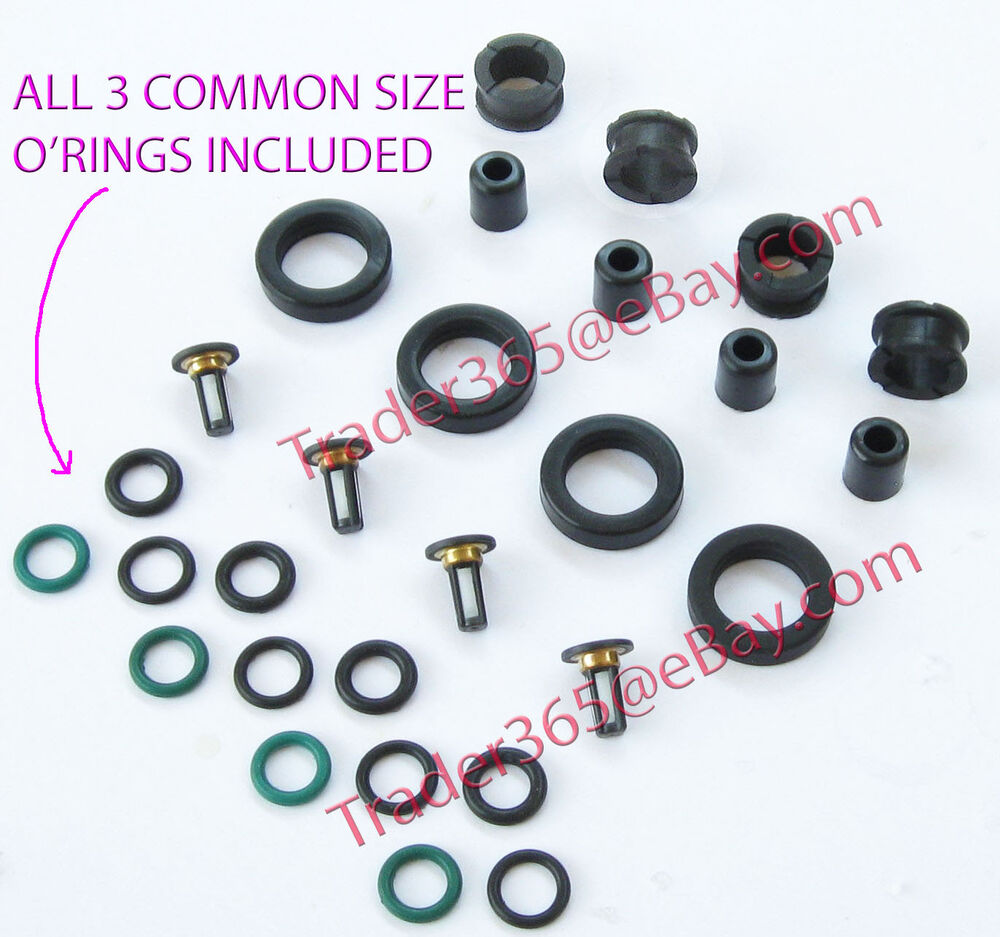 Fuel Injector Service Repair Kit for Honda Acura 4 Cyl O'rings Grommets  Filters | eBay