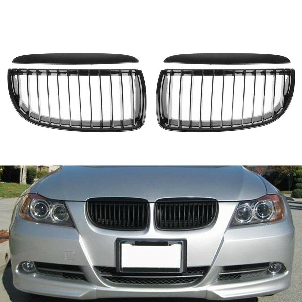 Bmw Xi 328: Glossy Black Kidney Grille Grill For BMW E90 323i 325xi