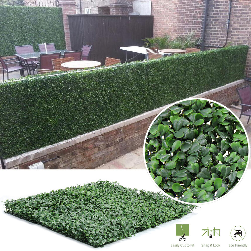 Artificial boxwood hedge privacy fence screen greenery for Garden privacy fence