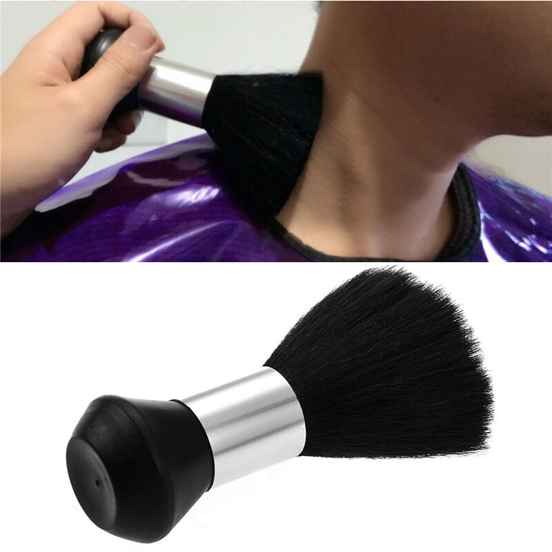 Black Pro Barber Neck Duster Soft Brush Hairdressing Hair ...